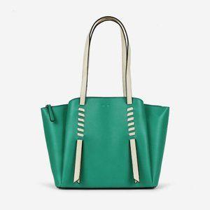 NWT Tote Shoulder Laptop Bag Premium Vegan green